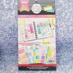 Colorful Boxes 605 Sticker Book The Happy Planner